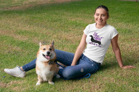 'Life Is Short And So Are My Legs' Dog Lover Women's T-Shirt