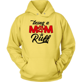 'Being A Dog Mom Is Ruff' Dog Lover Hoodie - Paws Night Out