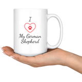 I Love My German Shepherd Coffee Mug | Paws Night Out