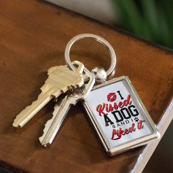 'I Kissed A Dog And I Liked It' Dog Lover Keychain