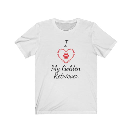 I Love My Golden Retriever Shirt - Paws Night Out