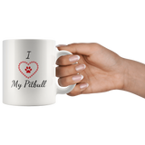 I Love My Pitbull Coffee Mug - Paws Night Out