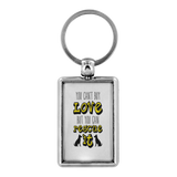 'You Can't Buy Love But You Can Rescue It' Dog Lover Keychain - Paws Night Out