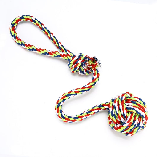 Dog Rope Knot and Ball Chew Toy - Paws Night Out