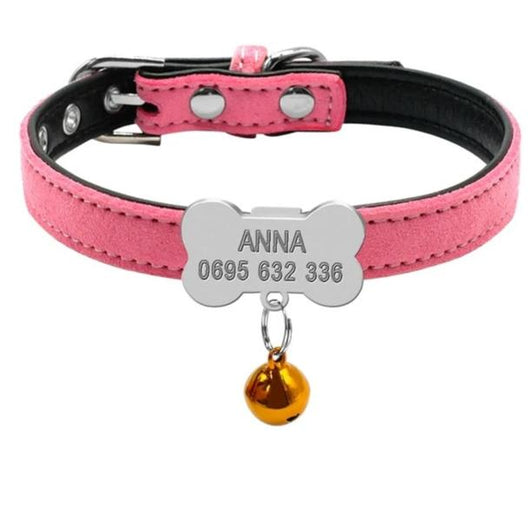 Personalized Dog Collar - Custom Engraved For Puppies - Paws Night Out