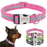 Reflective Dog Collar - Personalized and Custom Engraved | Paws Night Out