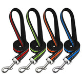 Matching Reflective Dog Leash 4 Designs and Colors - Paws Night Out