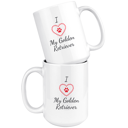 I Love My Golden Retriever Coffee Mug