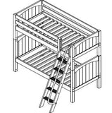 Maxtrix High Bunk w Angled Ladder