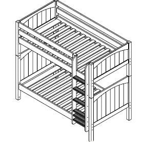Maxtrix High Bunk w Mounted Ladder