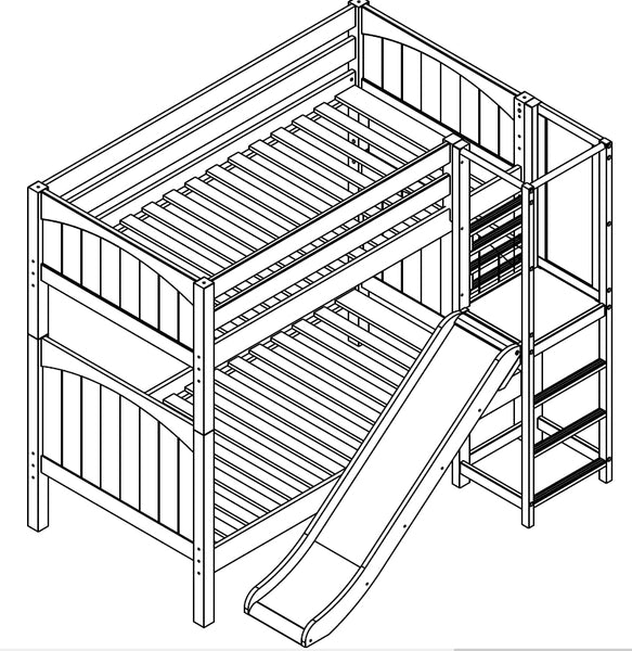 Maxtrix High Bunk w Front Slide Platform