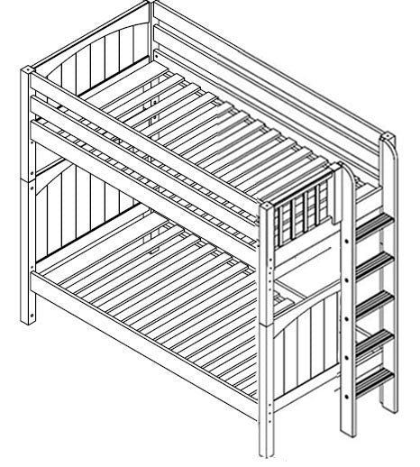 Maxtrix High Bunk w Side Ladder