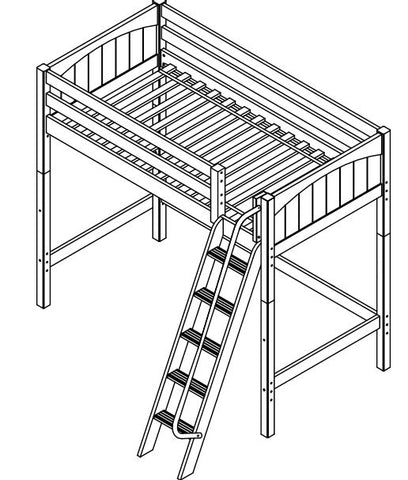 Maxtrix High Loft w Angled Ladder