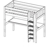 Maxtrix High Loft w Straight Ladder w Table