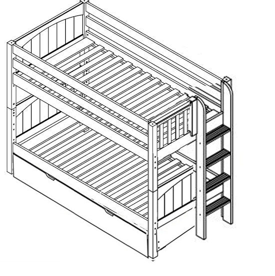 Maxtrix Low Bunk w Side Ladder (w Pullout)