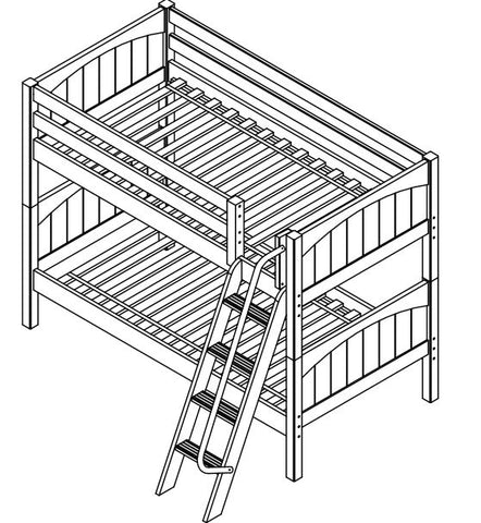Maxtrix Low Bunk w Angled Ladder