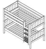 Maxtrix Low Bunk w Mounted Ladder
