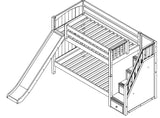 Maxtrix Low Bunk w Staircase w Slide