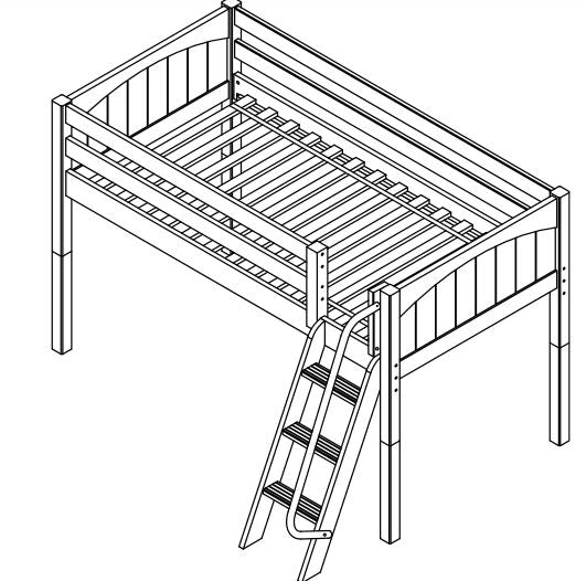Maxtrix Low Loft w Angled Ladder