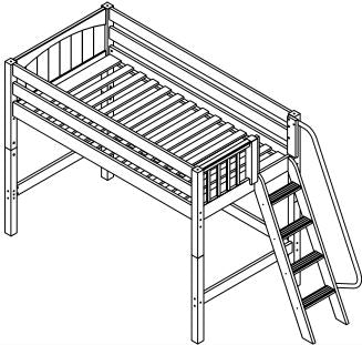 Maxtrix Mid Loft w Side Angled Ladder