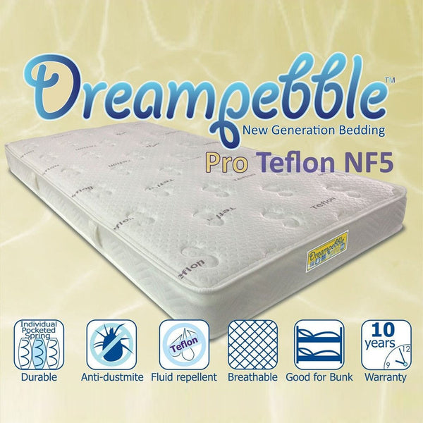 "Dreampebble Pro Teflon 5"" (14cm) Pocket Spring"