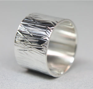 Abstract Silver Wide Band