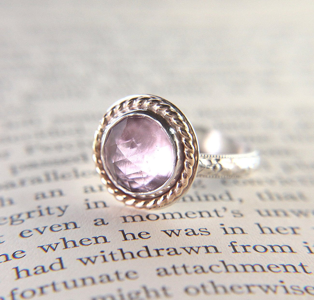 Pink Amethyst Cocktail Ring