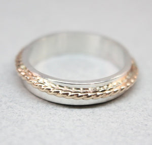 Asymmetrical Gold & Silver Band