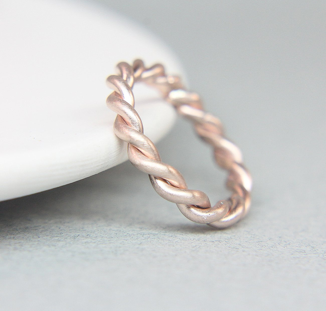 Rose Gold Rope Band