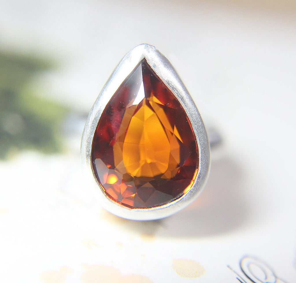 Padparadscha Cocktail Ring