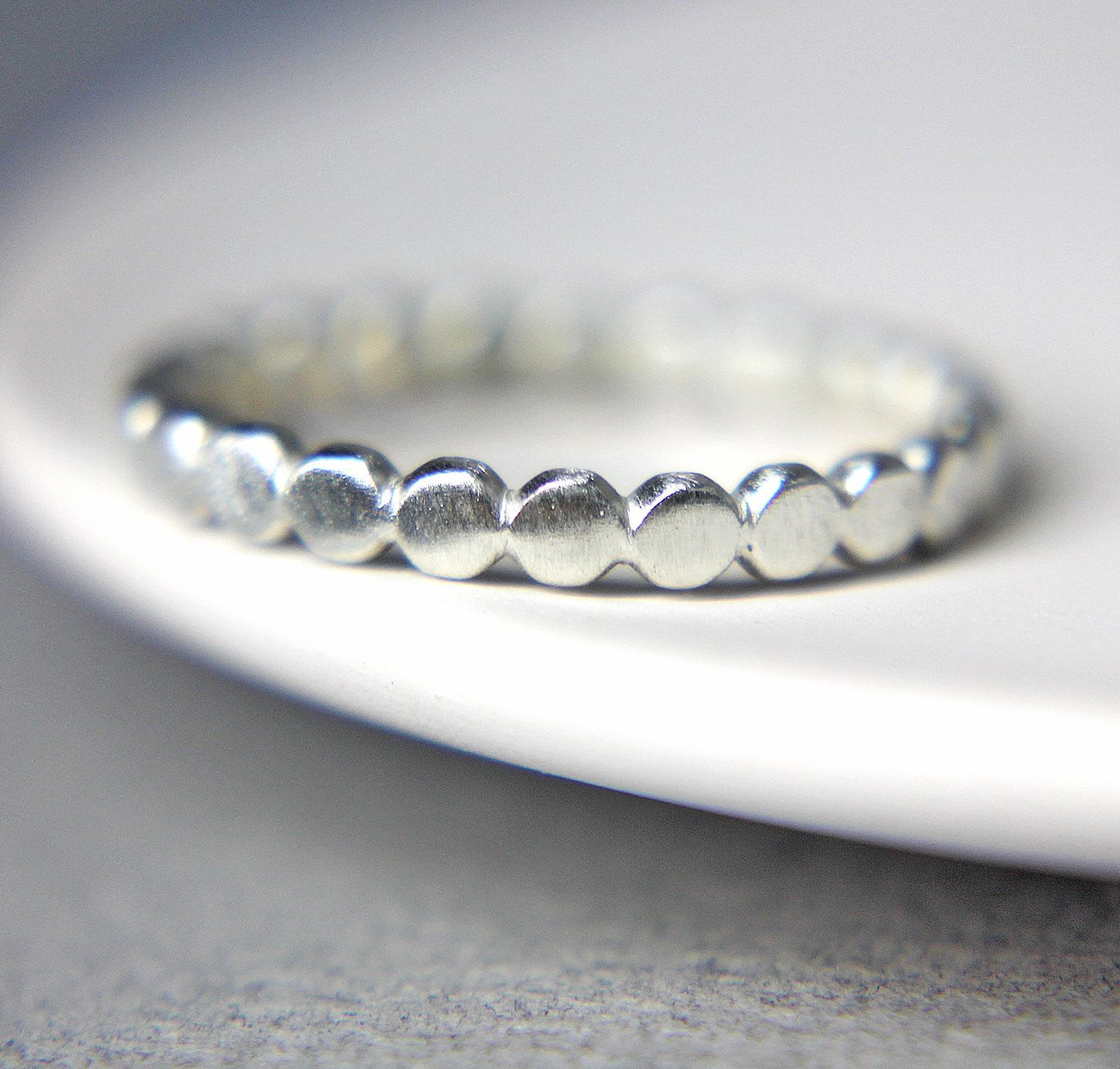 Sterling Silver Pebble Band