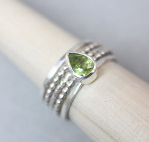 Peridot Slim Stacking Set