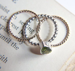 Peridot Silver & Gold Stacking