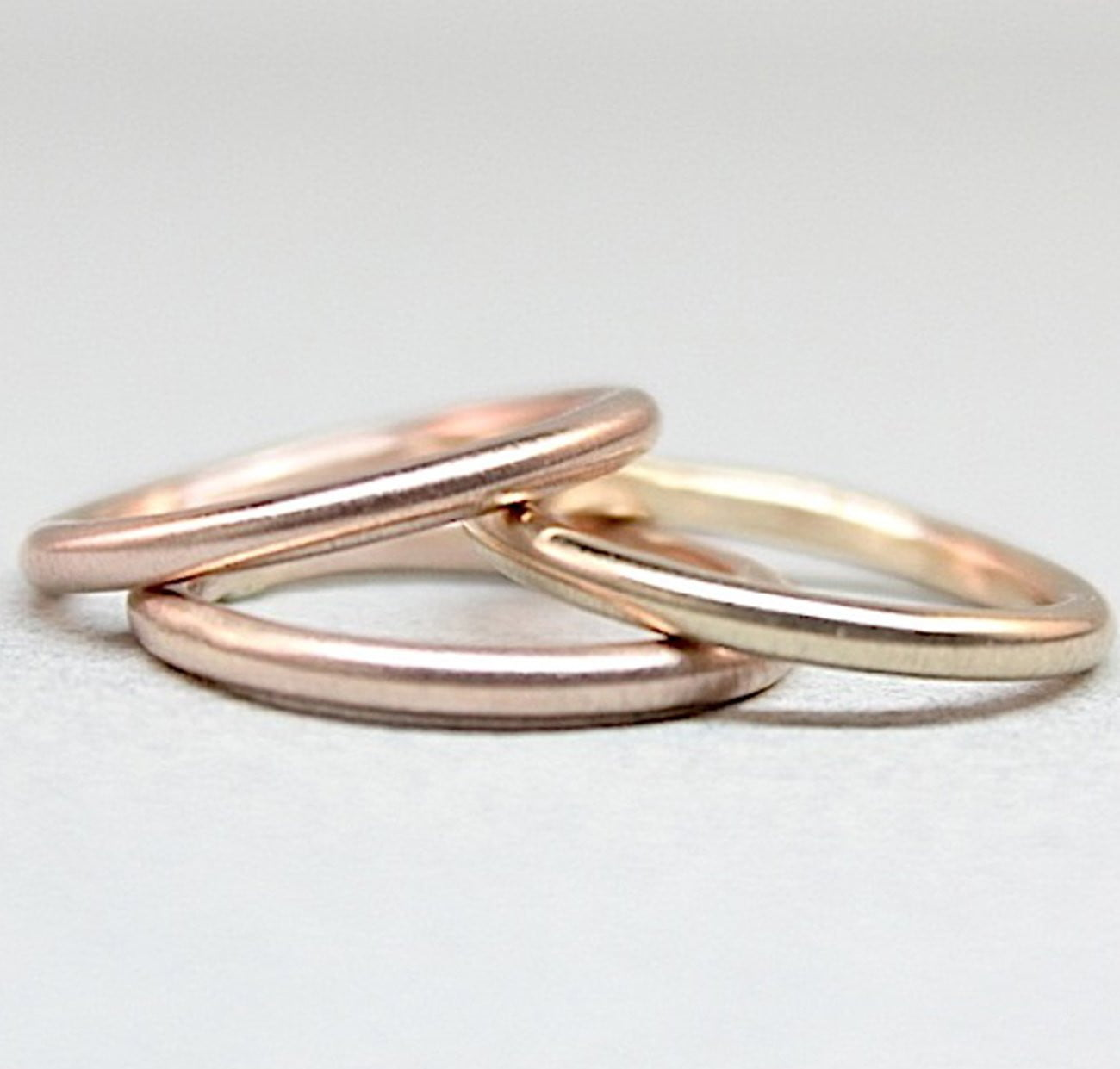 14K Rose & Yellow Gold Rings