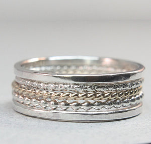 Slim Stacking Rings Set