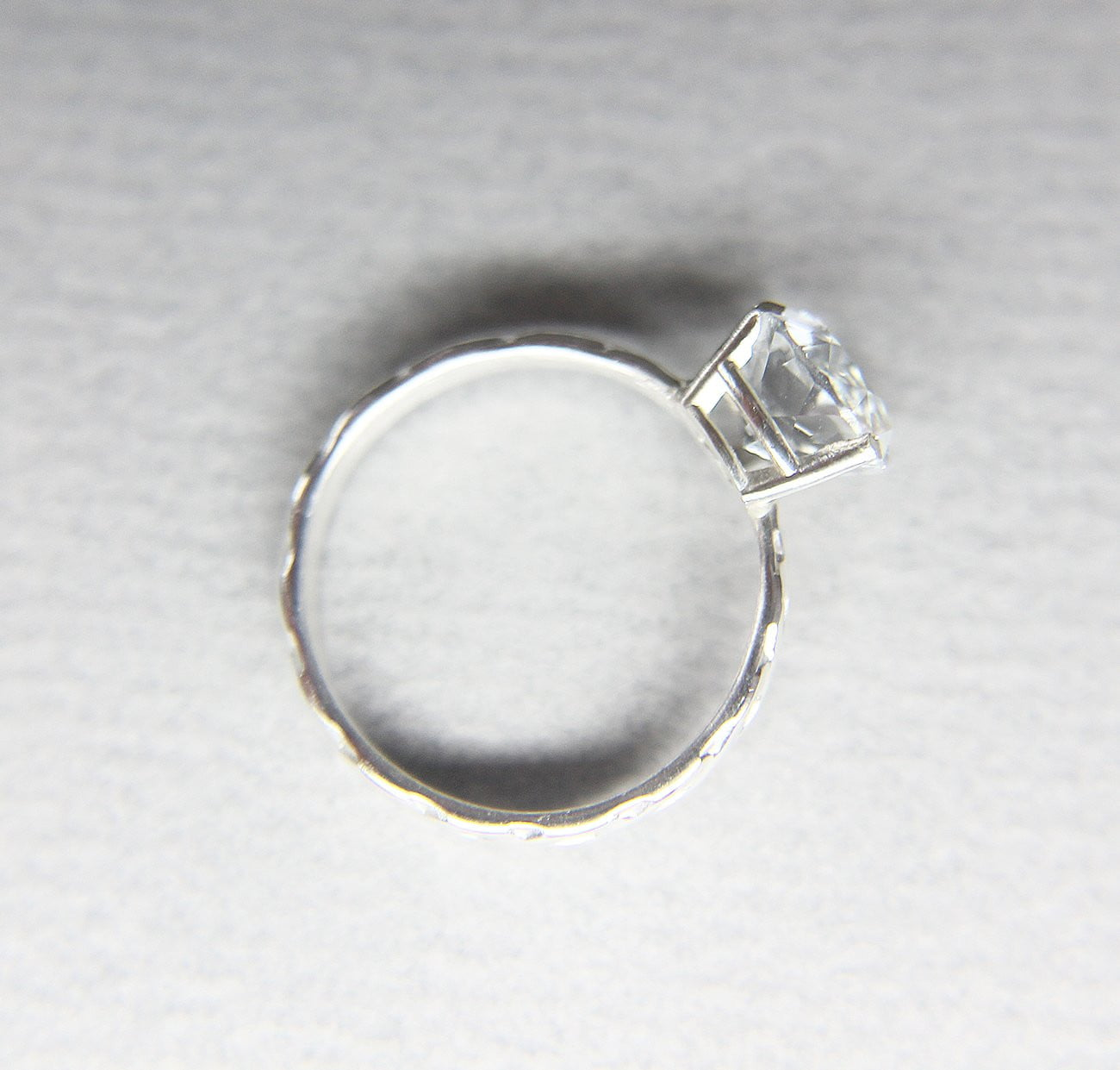White Topaz Braided Ring