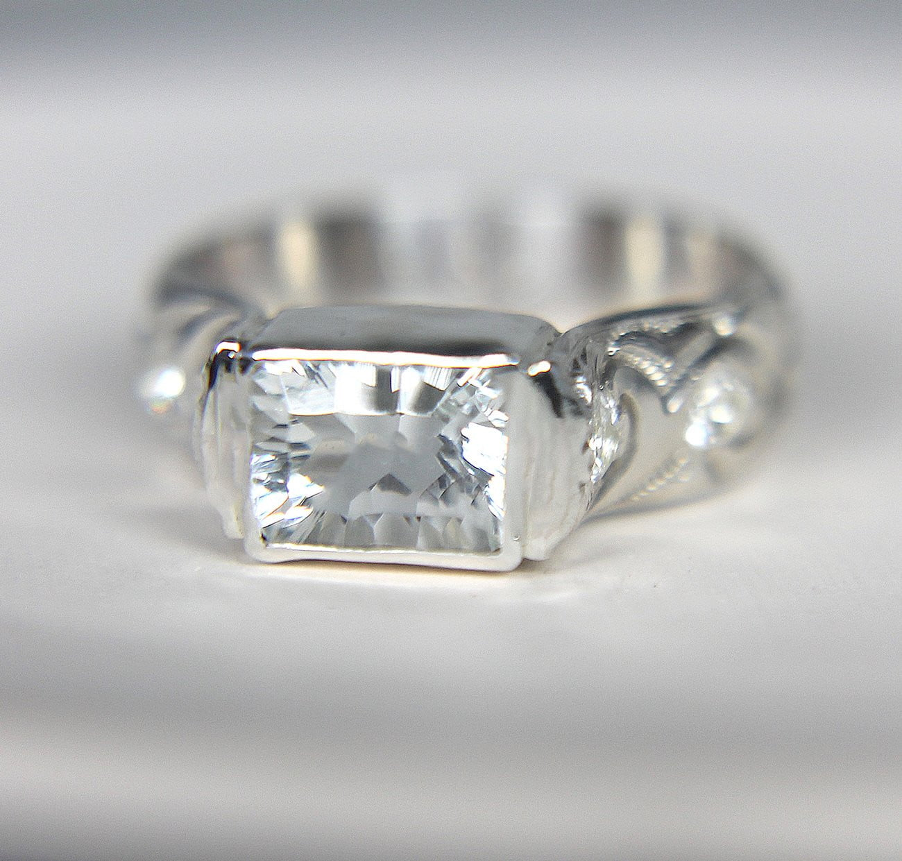 White Topaz Statement Ring