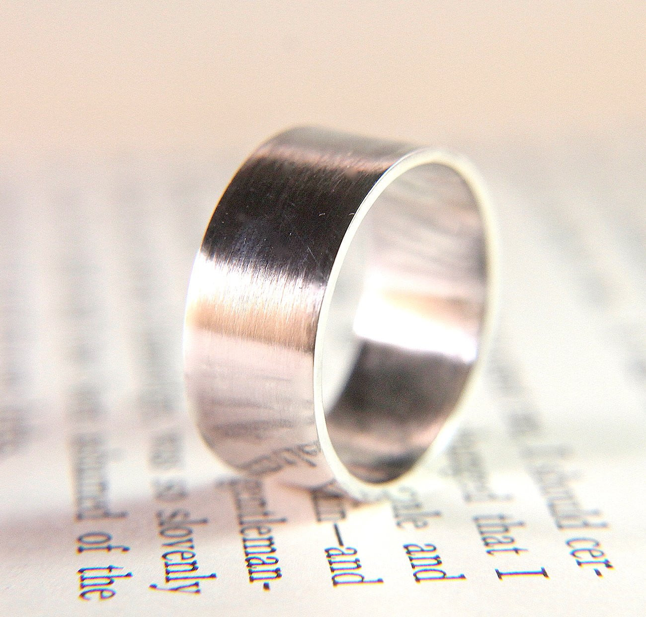 Modern Silver Wide Band