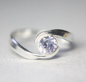 Wrap Gemstone Engagement Ring