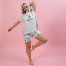 Stafficorns and Rainbows Printed Tee Summer Set - Sample Sale
