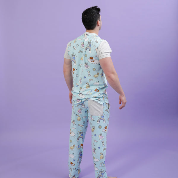Mens Stafficorns and Rainbows PJs - Sample Sale