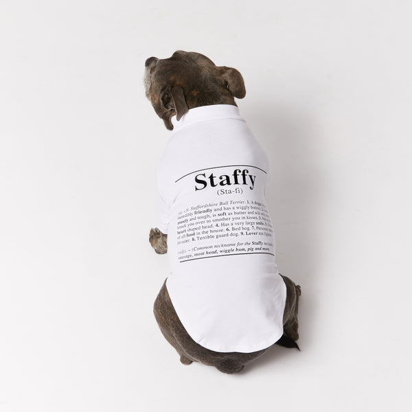Staffy Dictionary Dog Tee