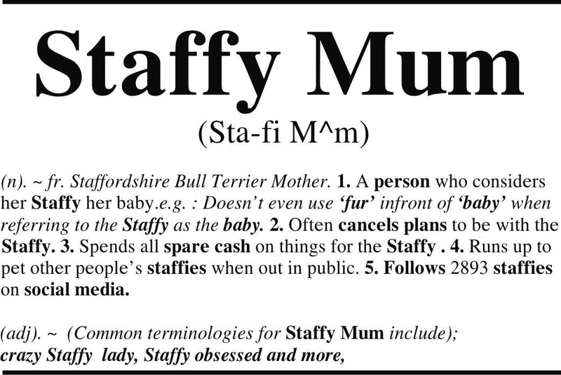 Staffy Mum Womens Tee