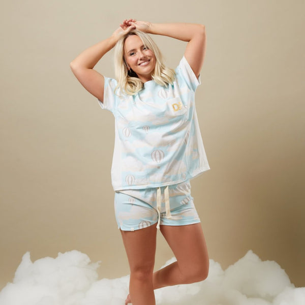 UP IN THE CLOUDS SHORTS AND TEE - FOR YOU
