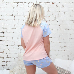 BEDTIME BLUE SHORTS AND TEE - FOR YOU
