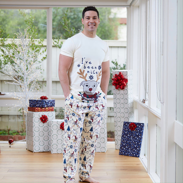 Naughty or Nice Mens PJ set