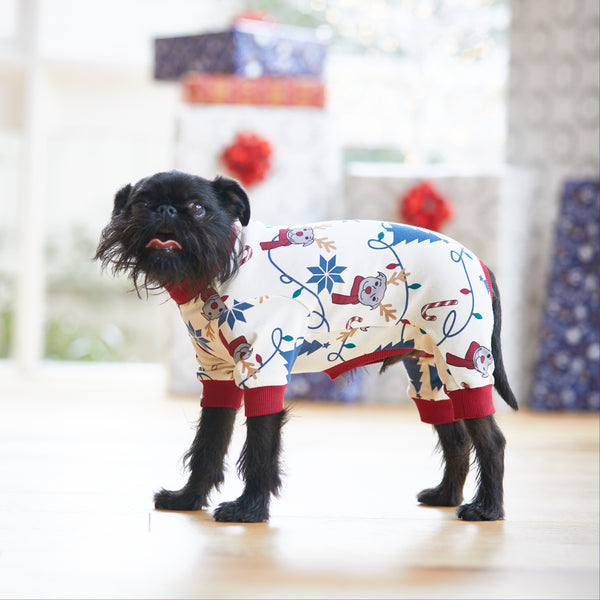 Bark the Halls Dog Onesie