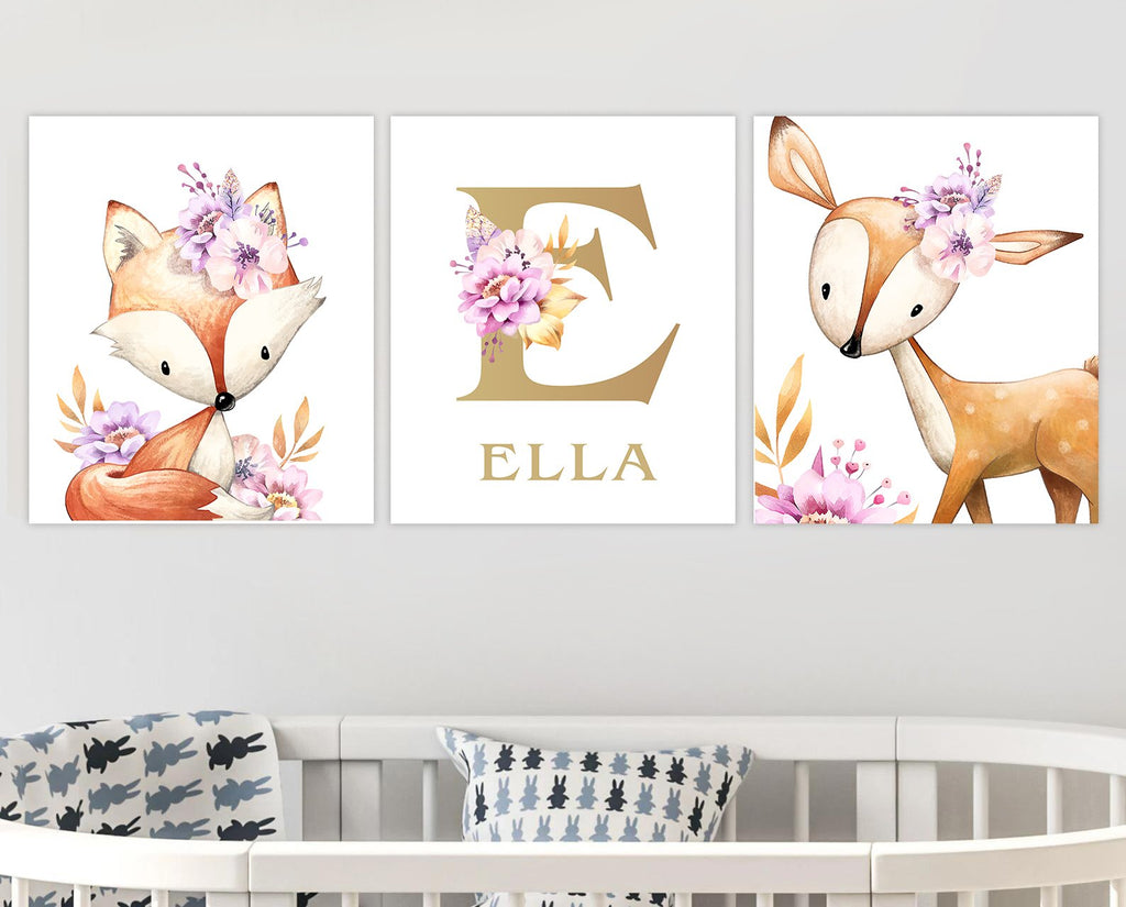 Custom Initial & Name Wall Art for Kids' Room
