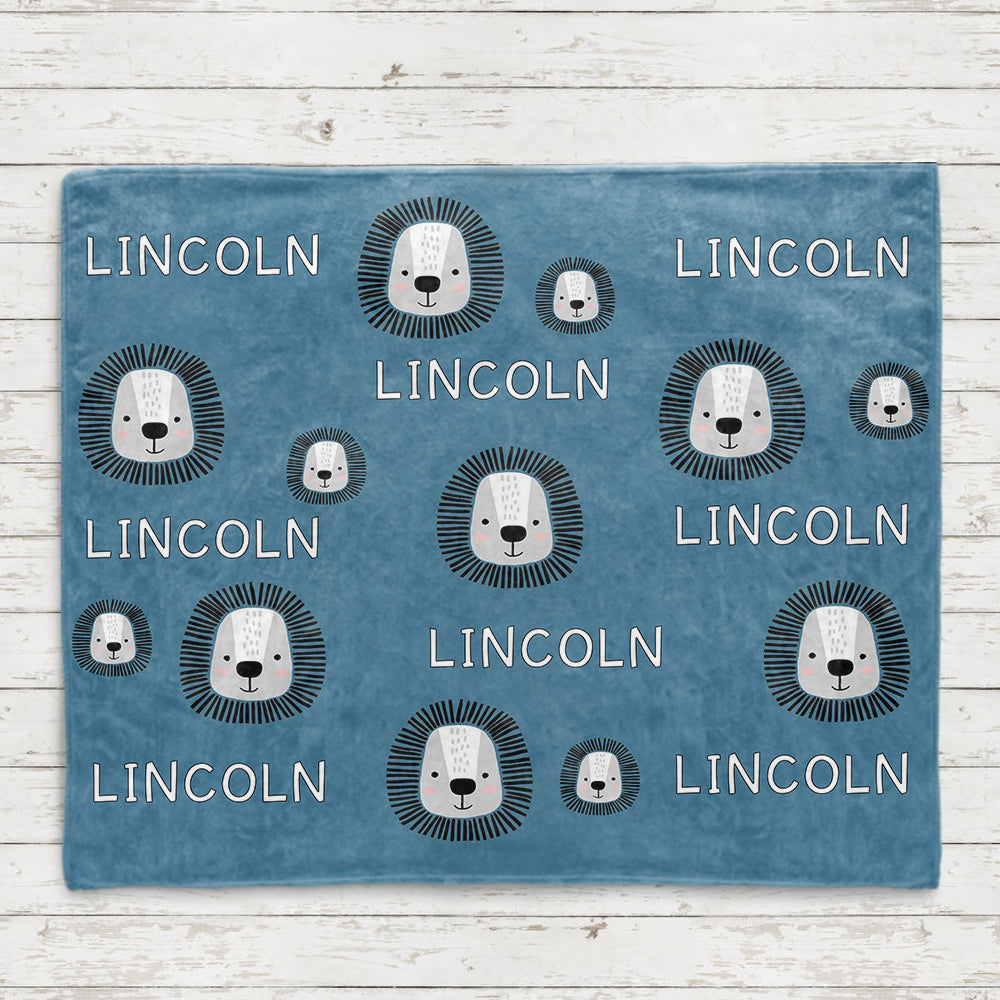 Personalized Name Lion Fleece Blankets - BUY 2 SAVE 10%