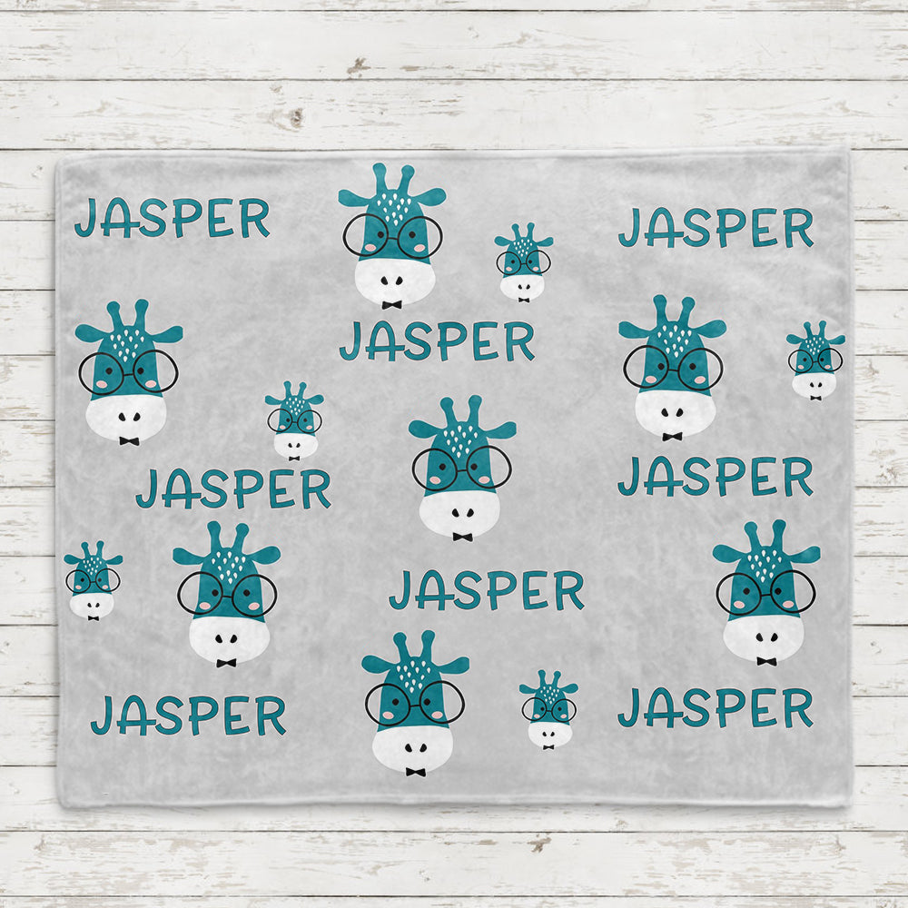 Personalized Name Giraffe Fleece Blankets - BUY 2 GET 10% OFF